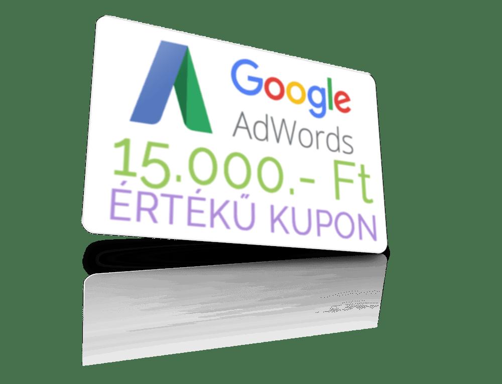 Google AdWords kampánykezelés - AdWords kupon