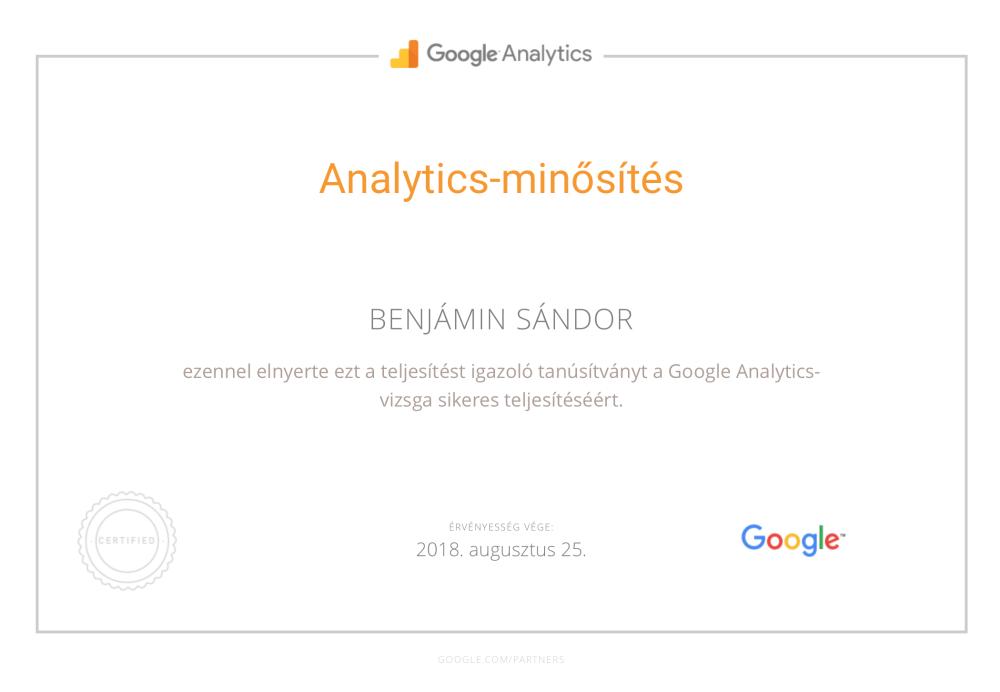 Google AdWords kampánykezelés - Analytics minősítés